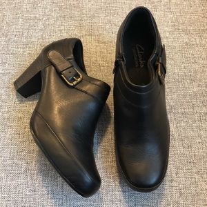 Clarks Bendables Leather Booties